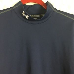 Under Armour  Cold Gear Fitted Navy Sweater